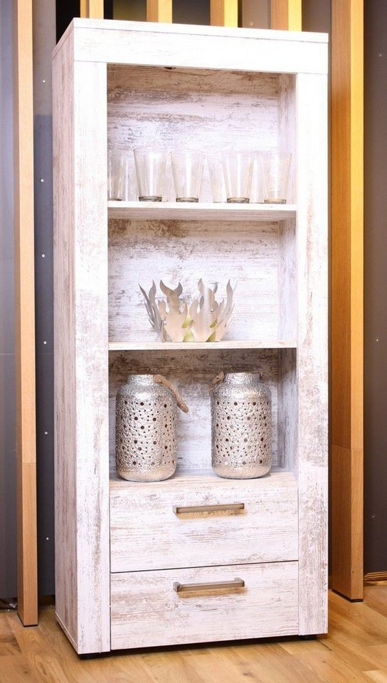 kasper wohndesign regal nachbildung pinie wei kanada online kaufen otto. Black Bedroom Furniture Sets. Home Design Ideas