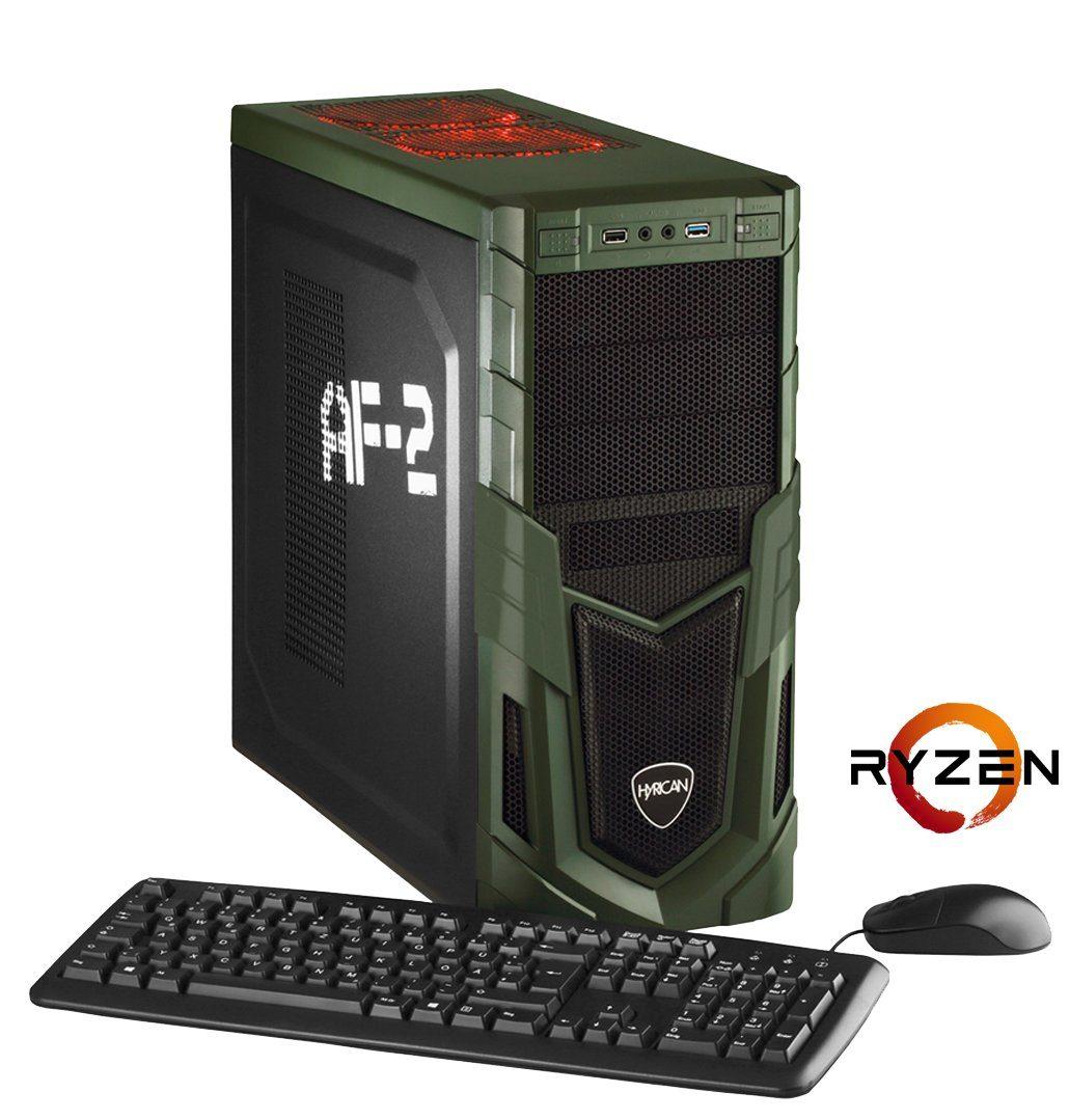 Hyrican Gaming PC AMD Ryzen™ 5 1500X 16GB SSD+HDD GeForce® GTX 1060 »MilitaryGaming 5560«