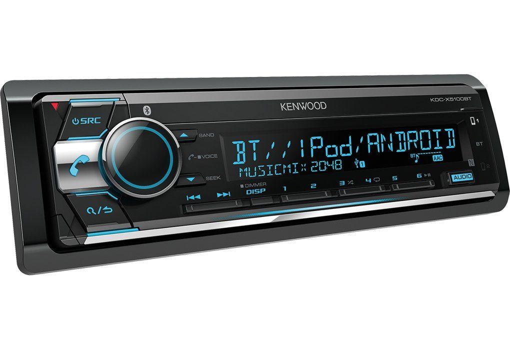 Kenwood 1-DIN Bluetooth / USB & CD Receiver »KDC-X5100BT«