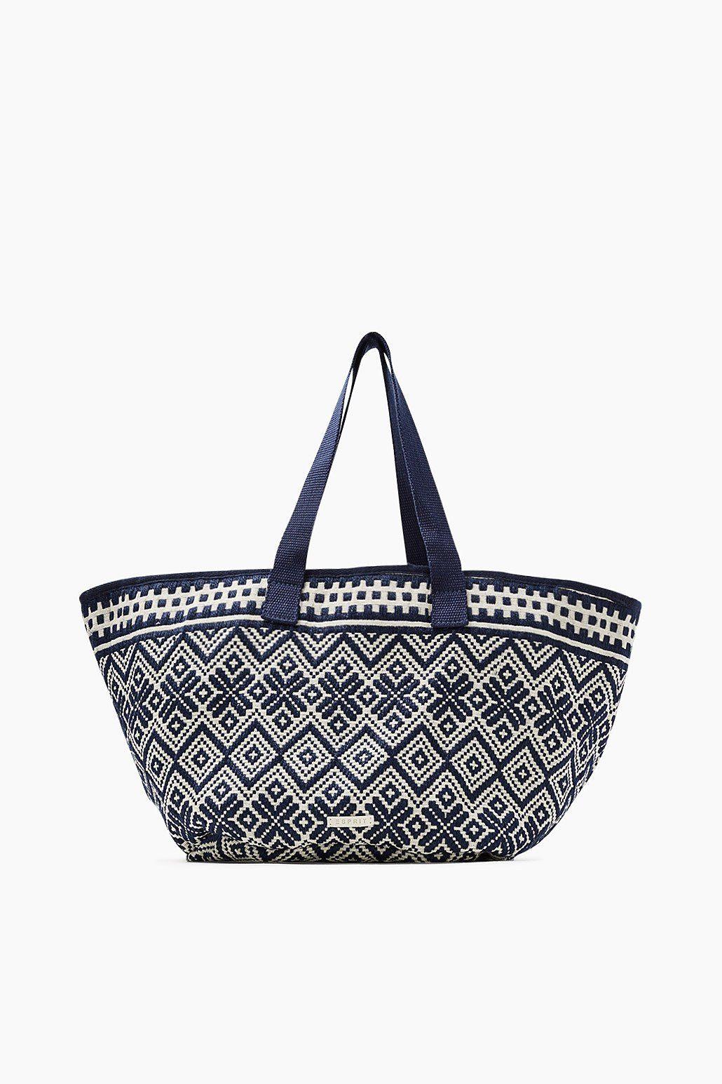 ESPRIT CASUAL Web-Shopper aus Baumwolle und Jute