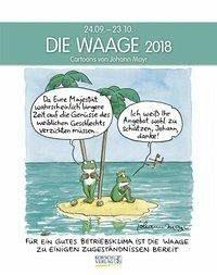 Kalender »Die Waage 2018. Sternzeichen-Cartoonkalender«