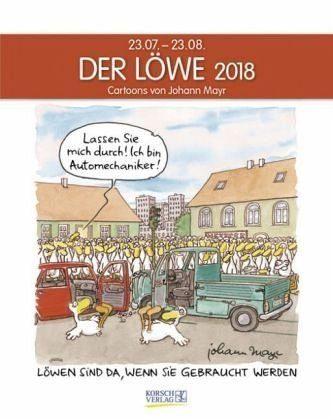 Kalender »Der Löwe 2018. Sternzeichen-Cartoonkalender«