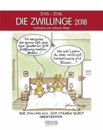 Kalender »Die Zwillinge 2018 Sternzeichen-Cartoonkalender«