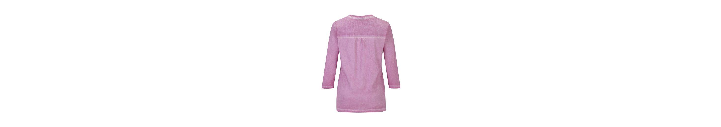 Hajo Stückgefärbtes Blusenshirt