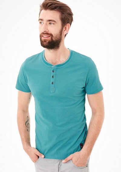 s.Oliver RED LABEL T-Shirt mit Knopfleiste Sale Angebote Ebrach