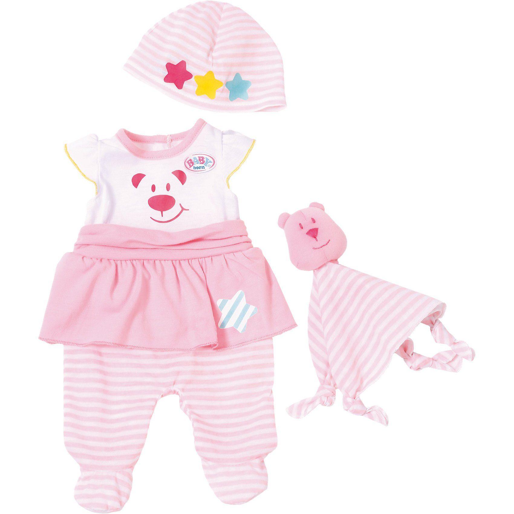 Zapf Creation® Exklusiv BABY born® Kuschel Outfit mit Schnuffeltuch Puppenk