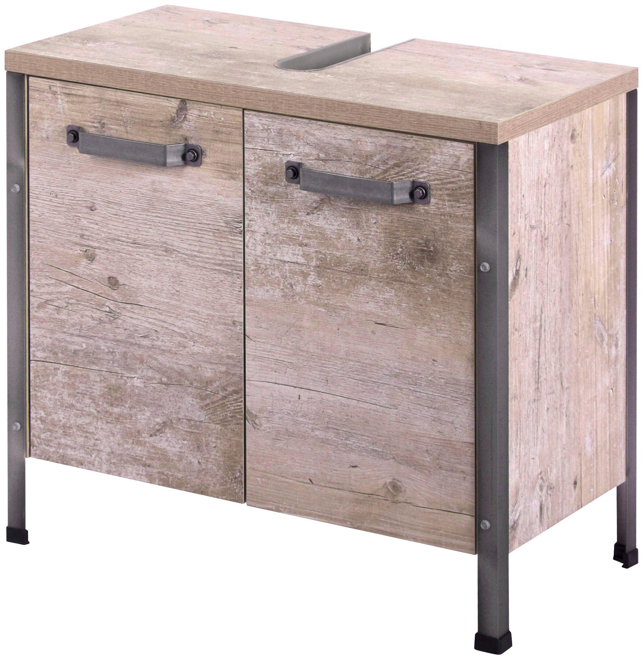 SCHILDMEYER Waschbeckenunterschrank »Harkon«, Breite 63,5 cm   Bad > Badmöbel > Waschbeckenunterschränke   Spanplatte   Schildmeyer