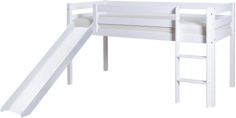 Kinderhochbett weiß mit rutsche  Ticaa Hochbett mit Rutsche, Kiefer »Lio« kaufen | OTTO