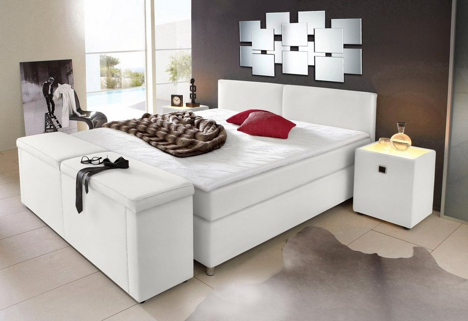 boxspringbett inkl topper online kaufen otto. Black Bedroom Furniture Sets. Home Design Ideas