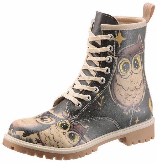 DOGO »Owls Family« Schnürboots mit witzigem Eulen-Print