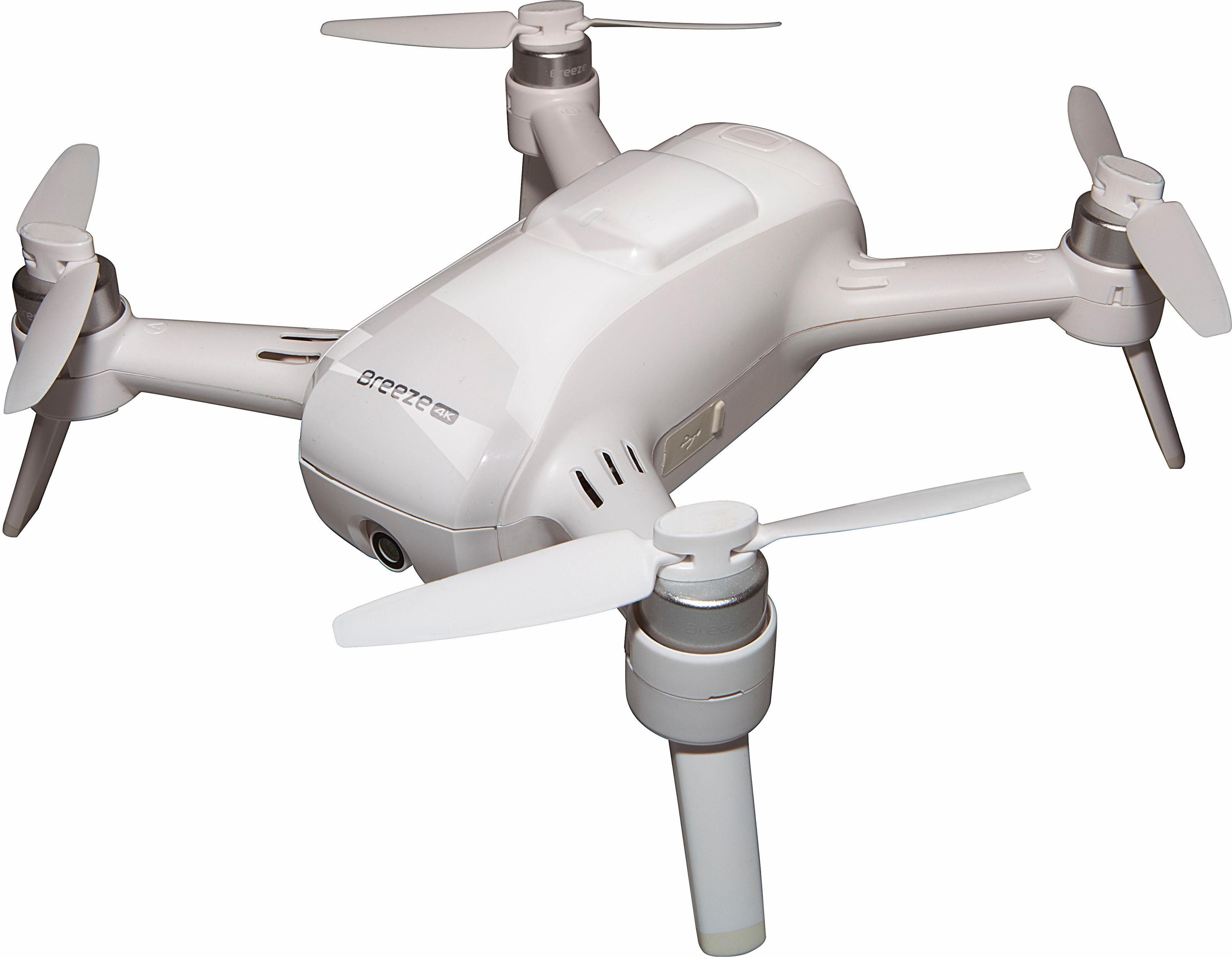 Yuneec Breeze Drohnen mit 4K-UHD-Kamera, inkl. FPV Headset & Controller Kit