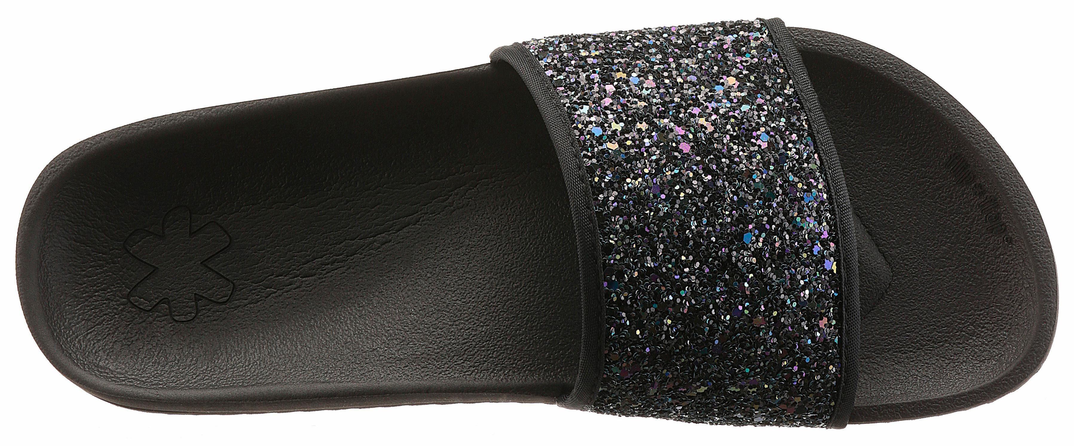 Flip Flop Pantolette, mit Glitter online kaufen  schwarz