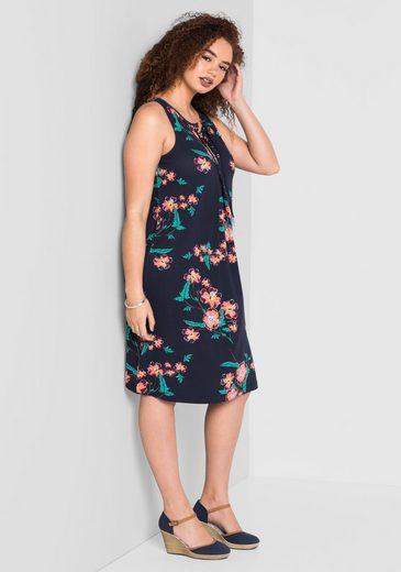 sheego Style Jerseykleid, Nahtfeine seitliche Taschen