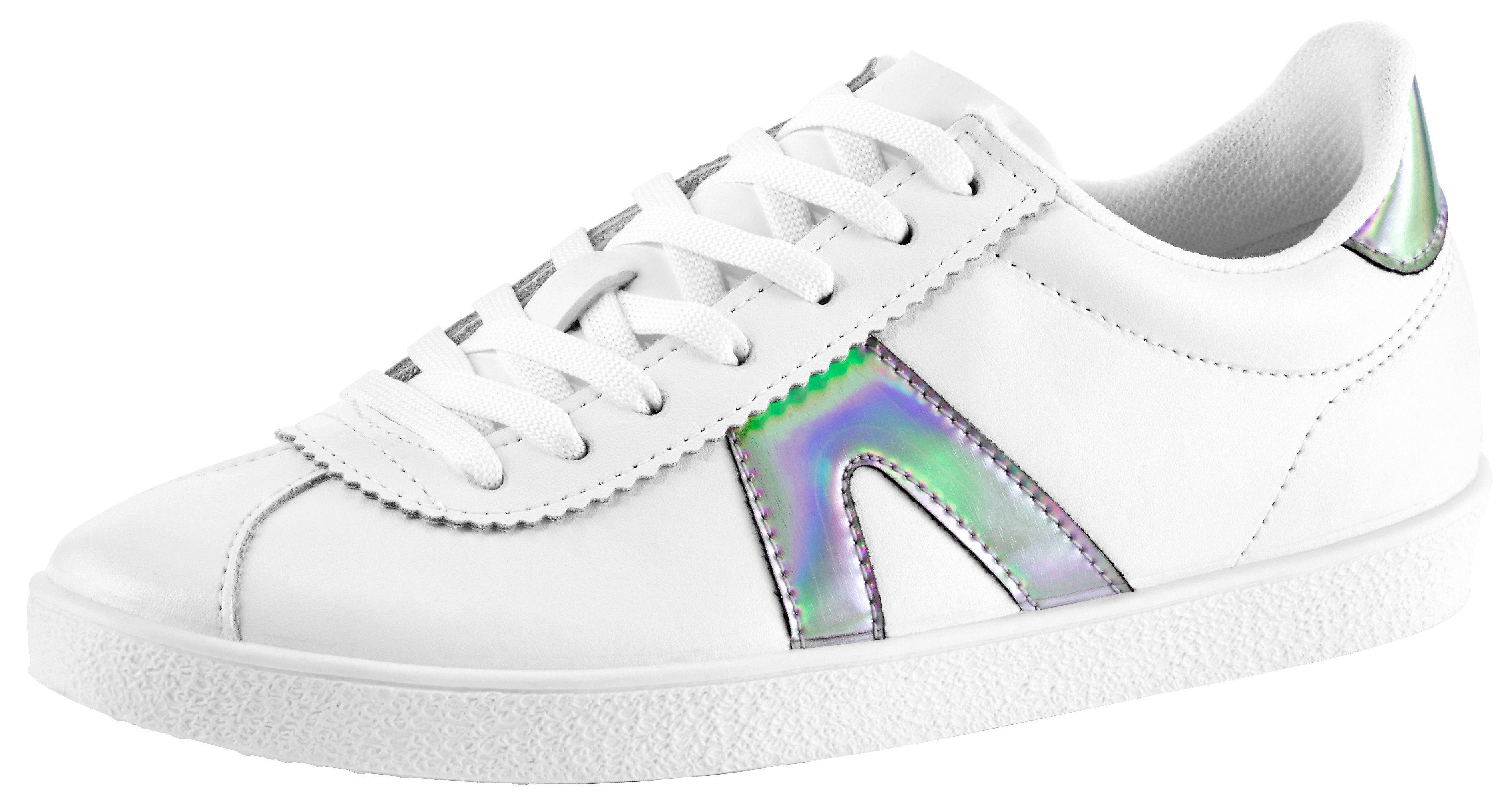 Heine Sneaker mit Metallic-Effekt online kaufen  weiß#ft5_slash#silberfarben