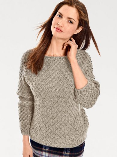 B.C. BEST CONNECTIONS by Heine Grobstrickpullover mit Carré Ausschnitt