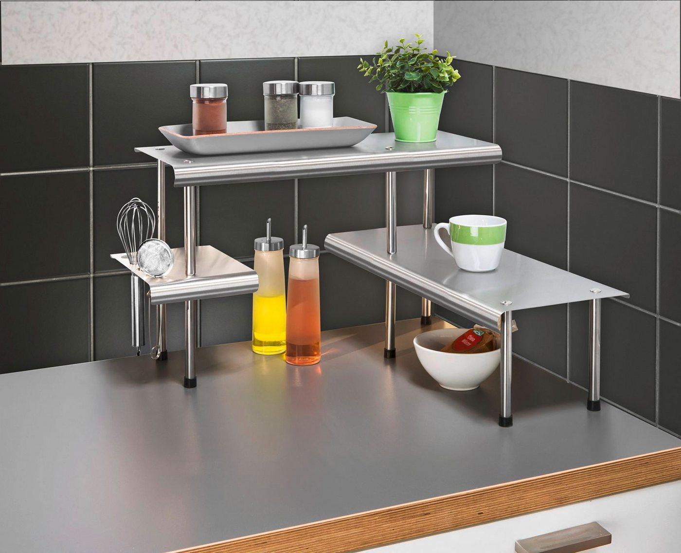 WENKO Küchen-Eckregal »Massivo« Trio mit 3 Ablagen | Küche und Esszimmer > Küchenregale > Küchen-Standregale | WENKO