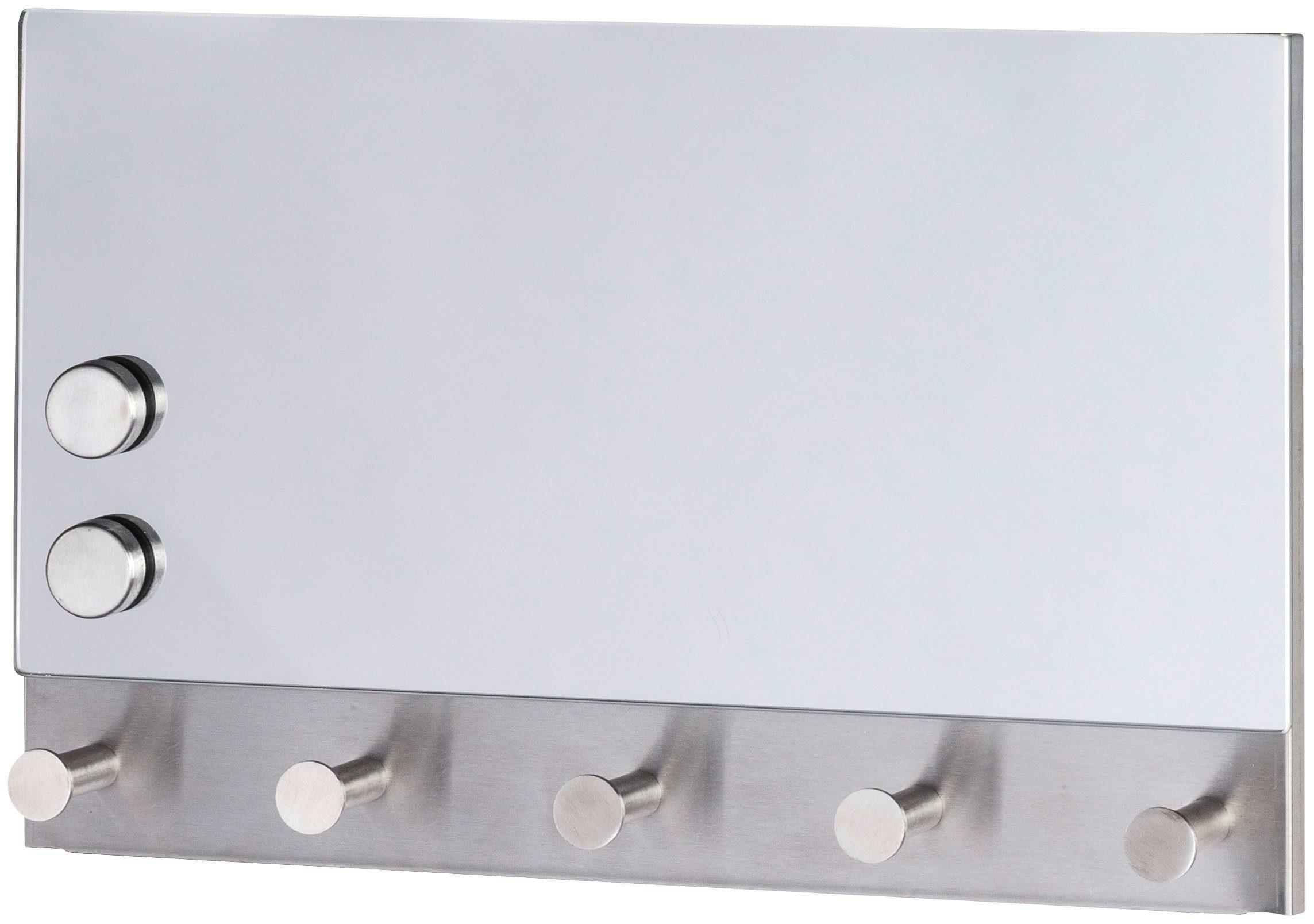 WENKO Garderobenhaken »Magnetische Garderobe Mirror«, 5 Haken, 30 x 19 cm