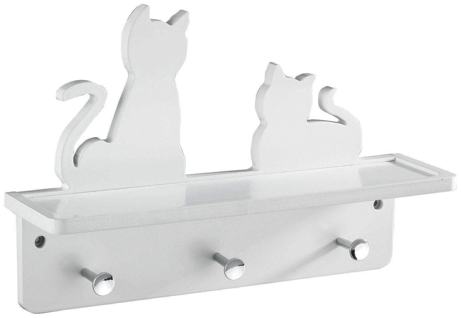 WENKO Wand-Garderobe »Katzen, mit Ablage«