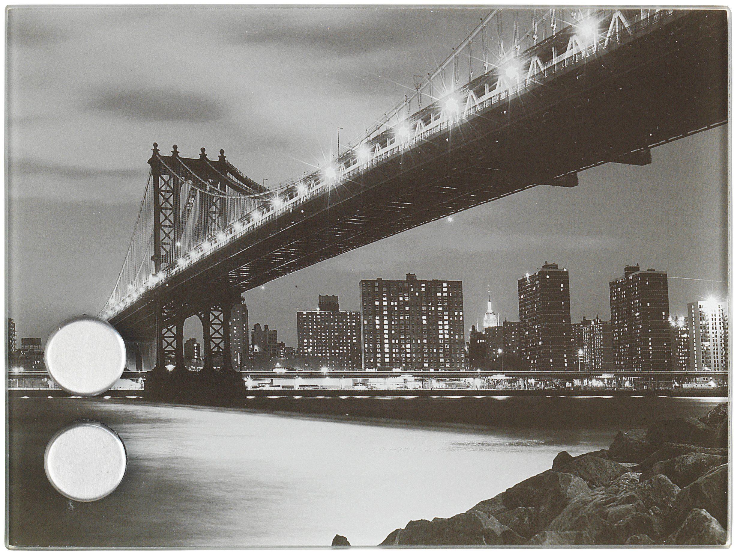 WENKO Schlüsselkasten »Manhattan Bridge« magnetisch, 20 x 15 cm