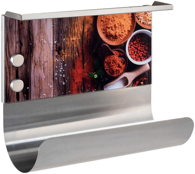 WENKO Magnetischer Küchenrollenhalter »Gewürze« mit Ablage