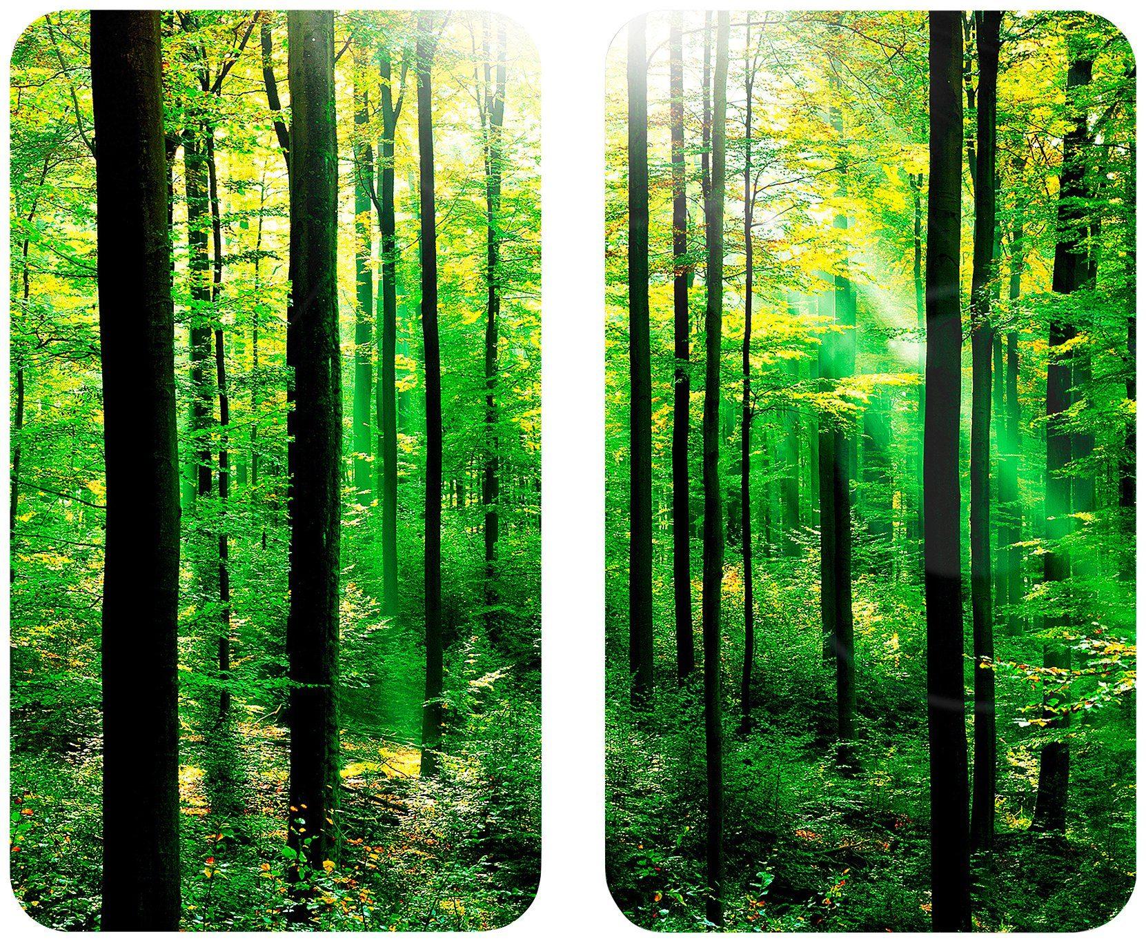 WENKO Herdabdeckplatte »Universal Wald« 2er Set, für alle Herdarten