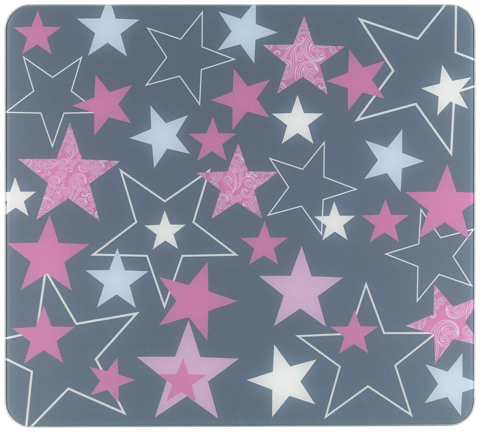 WENKO Abdeckplatte »Sterne Rosa« für Glaskeramik Kochfelder