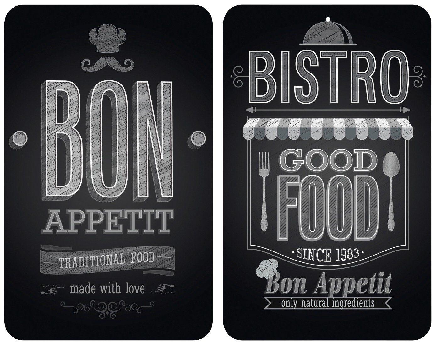 WENKO Herdabdeckplatte »Universal Bon Appetit« 2er Set, für alle Herdarten
