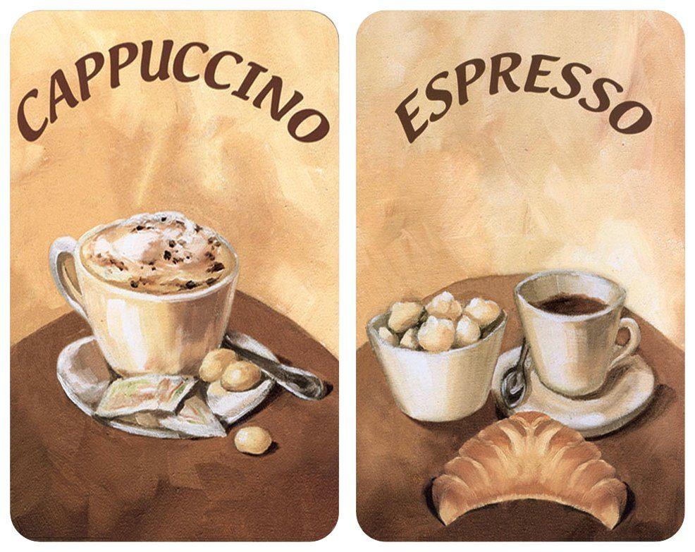 WENKO Herdabdeckplatte » Universal Kaffee« 2er Set, für alle Herdarten