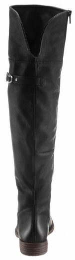 Rieker Knee Boots, On The Shaft With Decorative Buckle