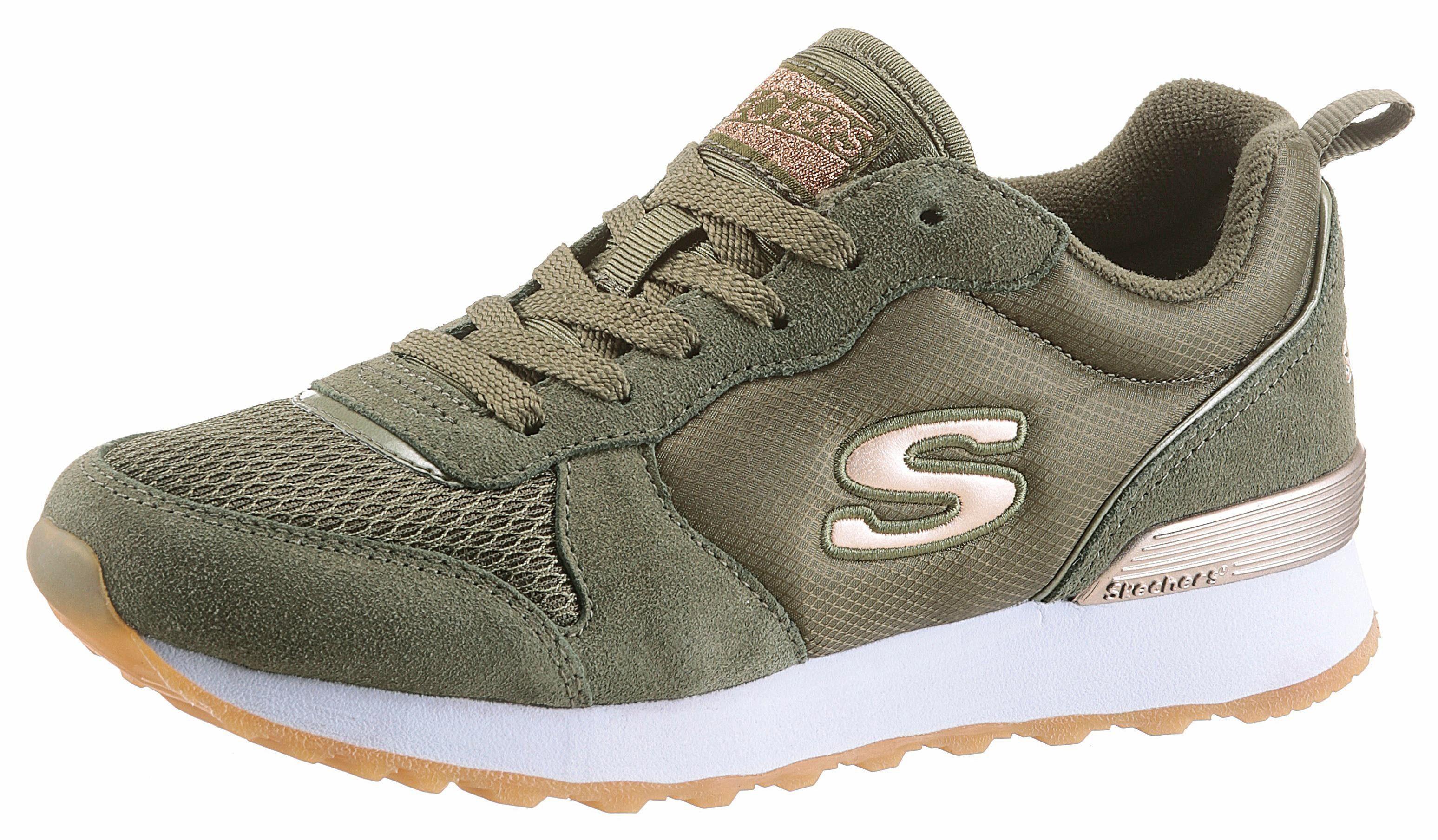 Skechers »GoldN Gurl« Sneaker, mit Memory Foam, schwarz, schwarz-goldfarben