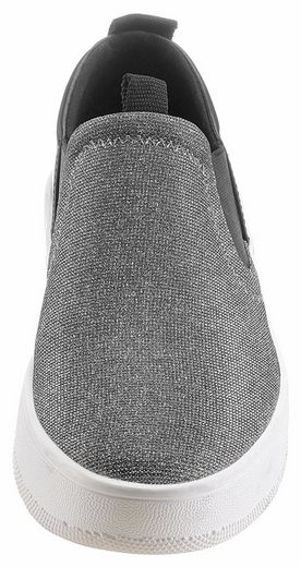 ESPRIT Mila Slip On Sneaker, im Glitter-Look