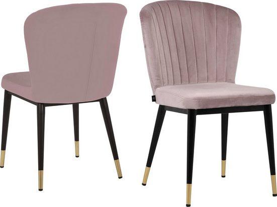 Leonique Esszimmerstuhl »Dinan« (Set), 2er-Set mit gepolstertem Sitz und Rückenlehne, modernes Design