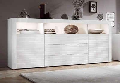 Sideboard weiß hochglanz mit holz  Sideboard online kaufen » Hochglanz & Klassisch | OTTO