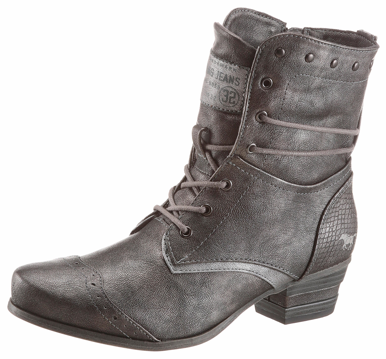 Mustang Shoes Schnürstiefelette, mit Lyralochung  graphit
