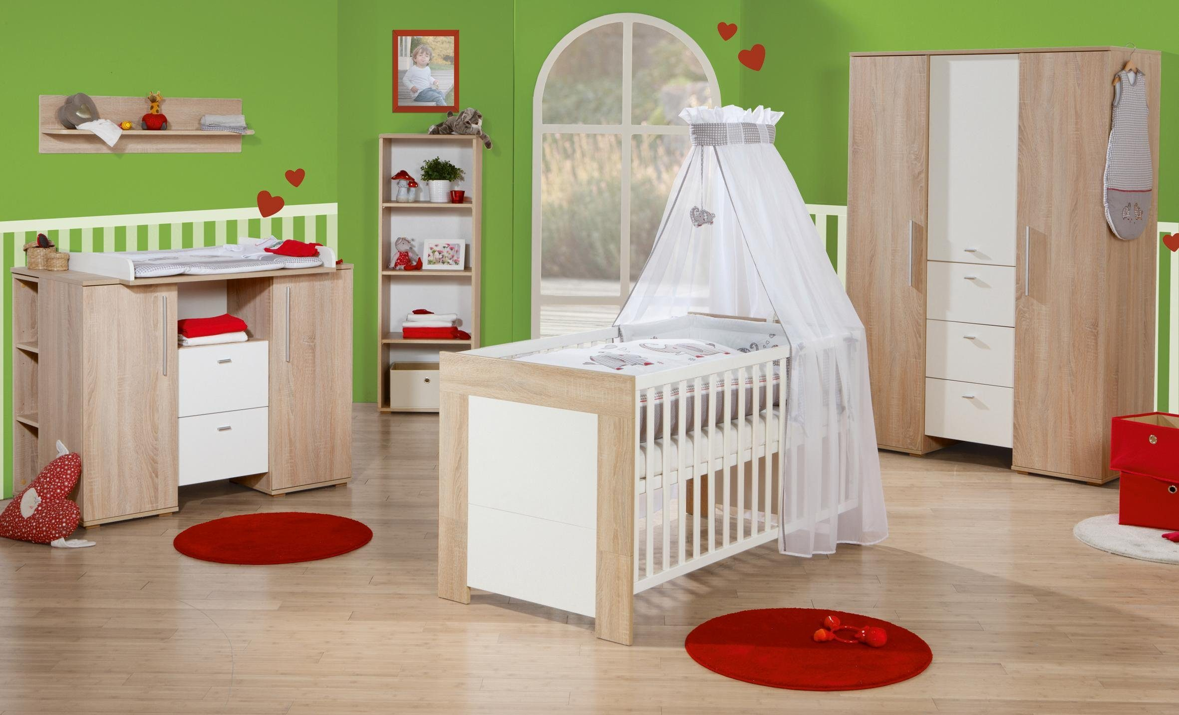 Roba Babyzimmer Set (7-tlg) Kinderzimmer »Daniel« L
