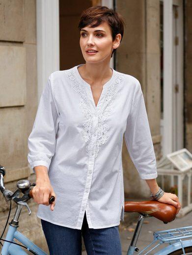 Paola Bluse in reiner Baumwolle