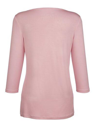 Paola Shirt mit silberfarbenem Foliendruck