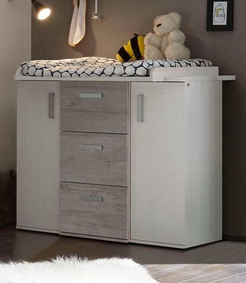 wickelkommode passend zur babym bel serie helsinki. Black Bedroom Furniture Sets. Home Design Ideas