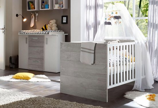 babym bel set helsinki 2 tlg bett wickelkommode. Black Bedroom Furniture Sets. Home Design Ideas
