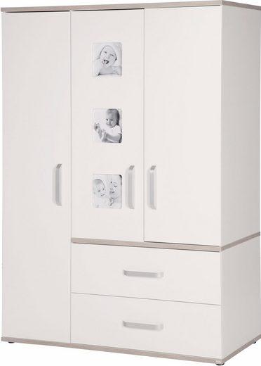 roba® Kleiderschrank »Moritz, 3-türig« mit integrierten Bilderrahmen an den Türen; Made in Europe