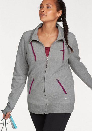Veste De Survêtement Kangourous Sweat Jacket Avec Trous Pour Les Pouces