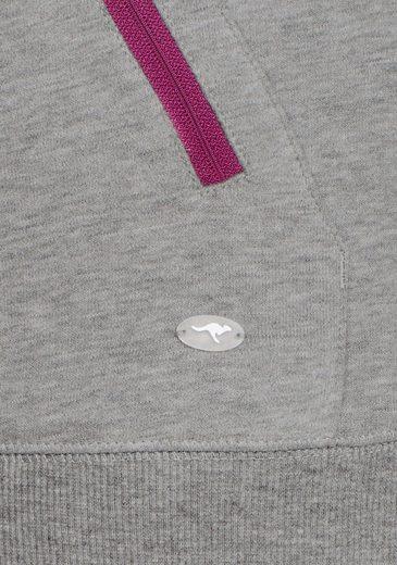 Kangaroos Sweat Jacket Sweat Jacket With Thumb Holes