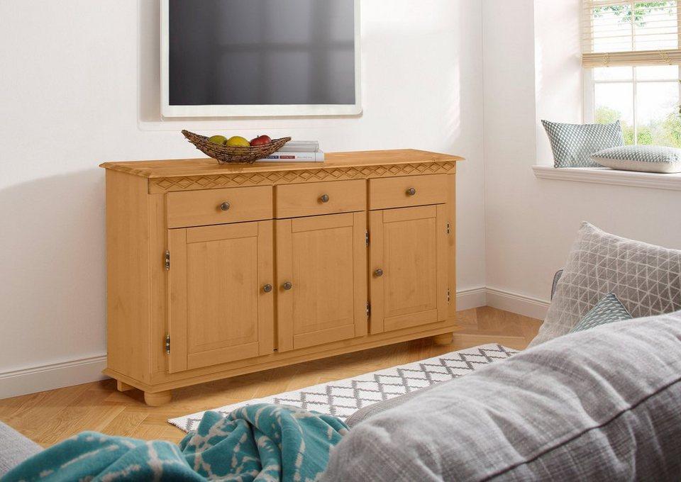 home affaire sideboard kim breite 125 cm kaufen otto. Black Bedroom Furniture Sets. Home Design Ideas
