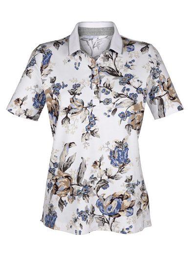 Alba Moda Poloshirt mit Blumendruck