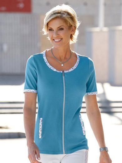 Paola Shirtjacke mit farblich abgesetzter Paspel