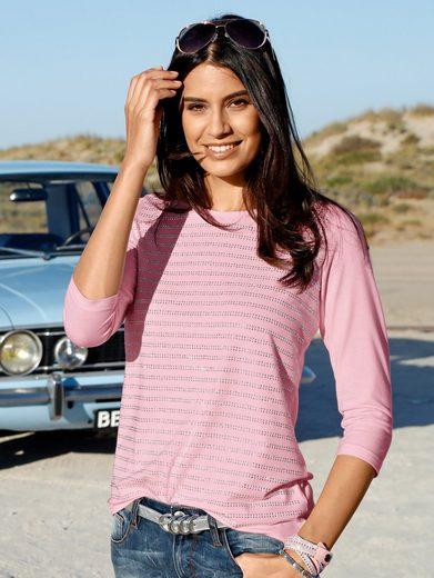 Laura Kent Shirt mit Glitzerstreifen