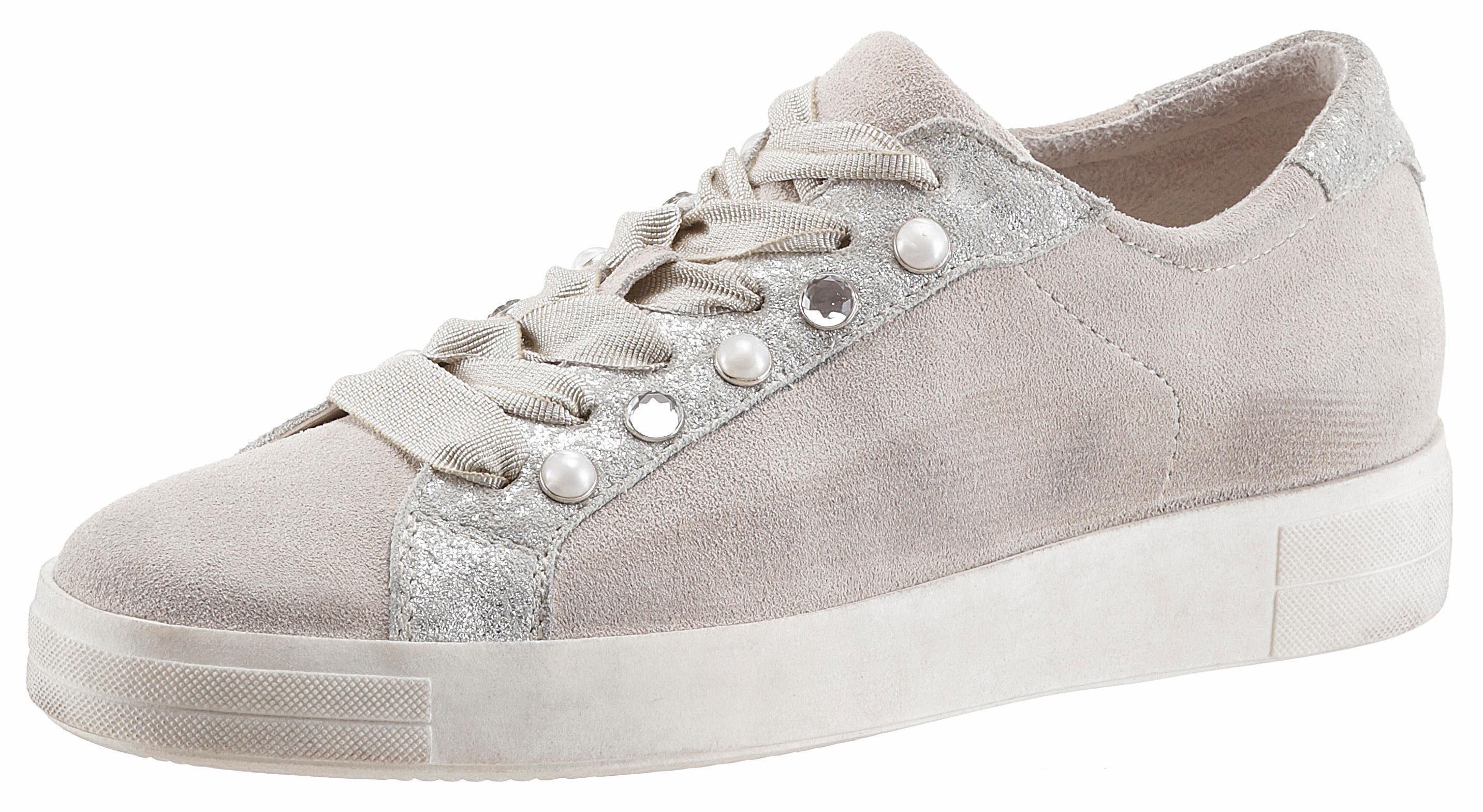 Tamaris Sneaker, mit trendigen Zierperlen kaufen  hellgrau
