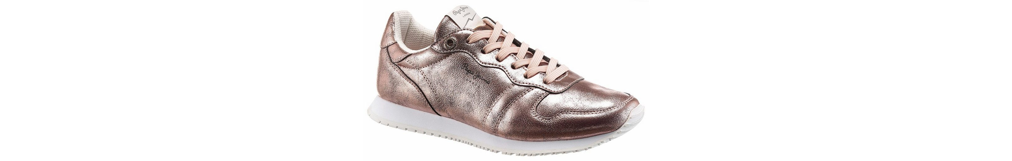 Pepe Jeans Gable Plain Sneaker, im trendigen Metallic-Look