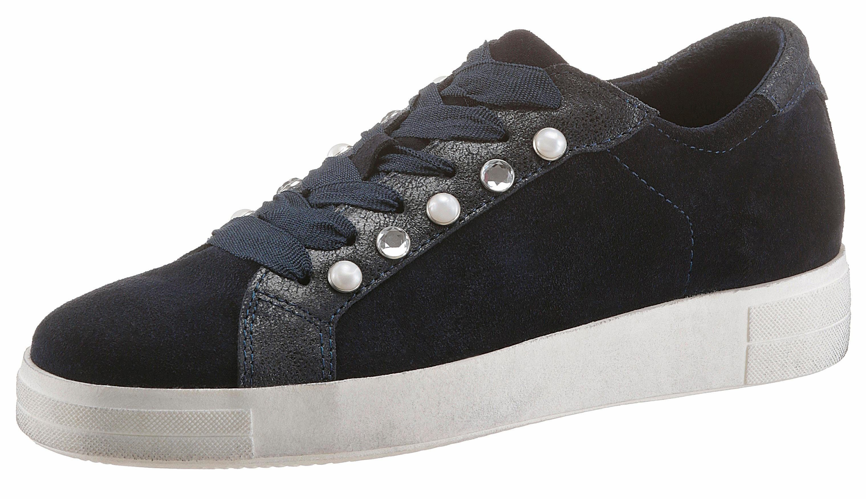 Tamaris Sneaker, mit trendigen Zierperlen kaufen  dunkelblau