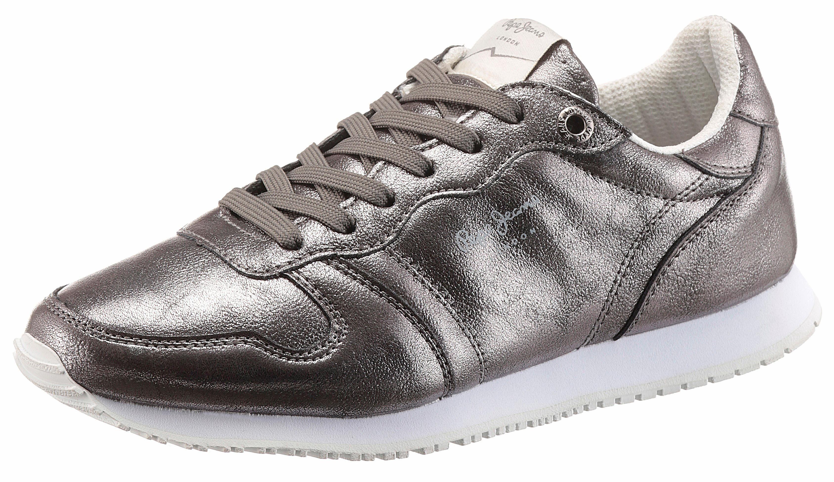 Pepe Jeans Gable Plain Sneaker, im trendigen Metallic-Look online kaufen  grau